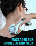 Muscle Roller Handheld Neck Massager Roller Pain Relief Relax Therapy Recovery