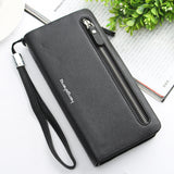 WOMEN PU LEATHER ZIPPER LONG PURSE CARD HOLDER WALLET PHONE BAG picktookshop.myshopify.com [sale] [online]