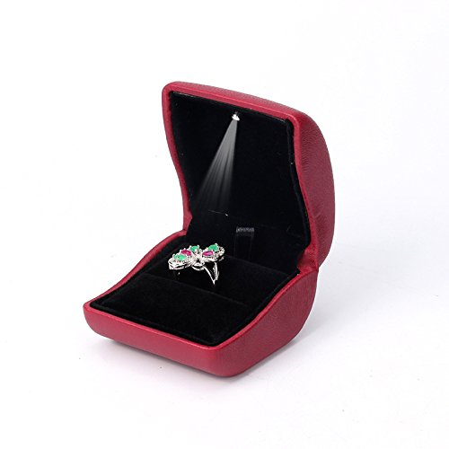 PU Leather Jewelry,Ring Box with Lighted up for Proposal,Engagement,Wedding,Gift picktookshop.myshopify.com [gogle] [sale] [online]