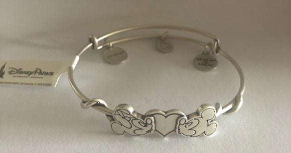 PARKS MICKEY & MINNIE KISSING BRACELET SILVER FINISH NEW TAGS picktookshop.myshopify.com [gogle] [sale] [online]