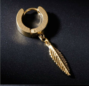 Punk Earrings Fashion Feather Pendant Dangle ,ONLY 1 PIECE, USA