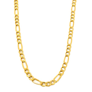 "Real 10k Yellow Gold Hollow Figaro Chain / Necklace, 2.5mm and 16"" picktookshop.myshopify.com [gogle] [sale] [online]"