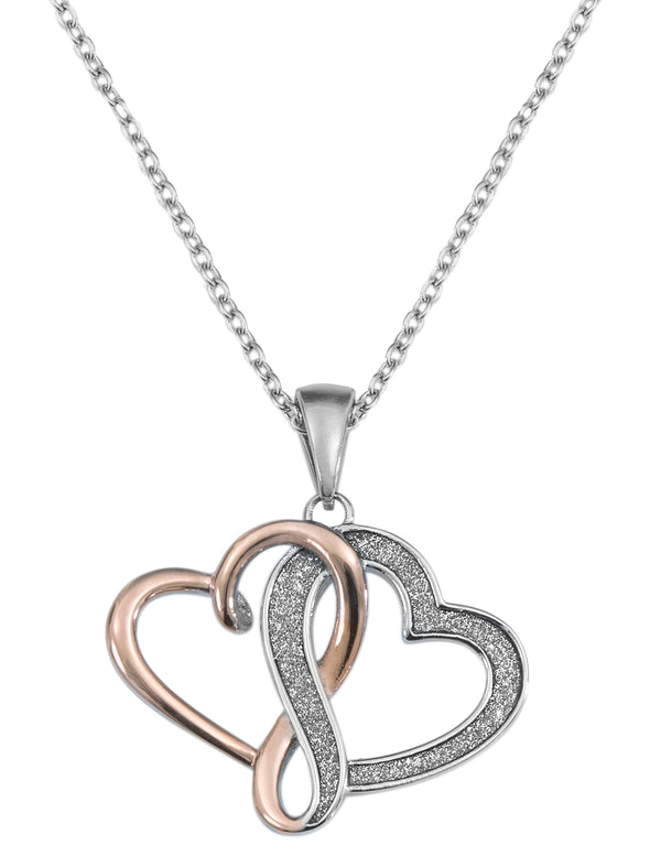 Stainless Steel Interlocking Hearts Pendant, 18 picktookshop.myshopify.com [gogle] [sale] [online]
