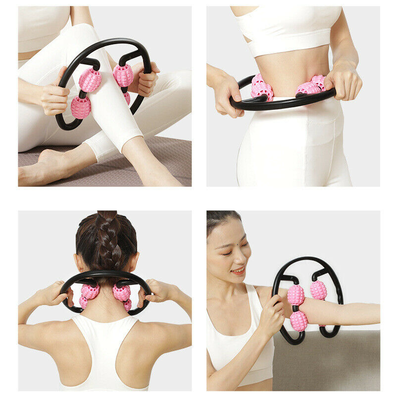 Trigger Point Roller Massager Arm Leg Tissue Muscle Relaxer Fitness Workout Yoga