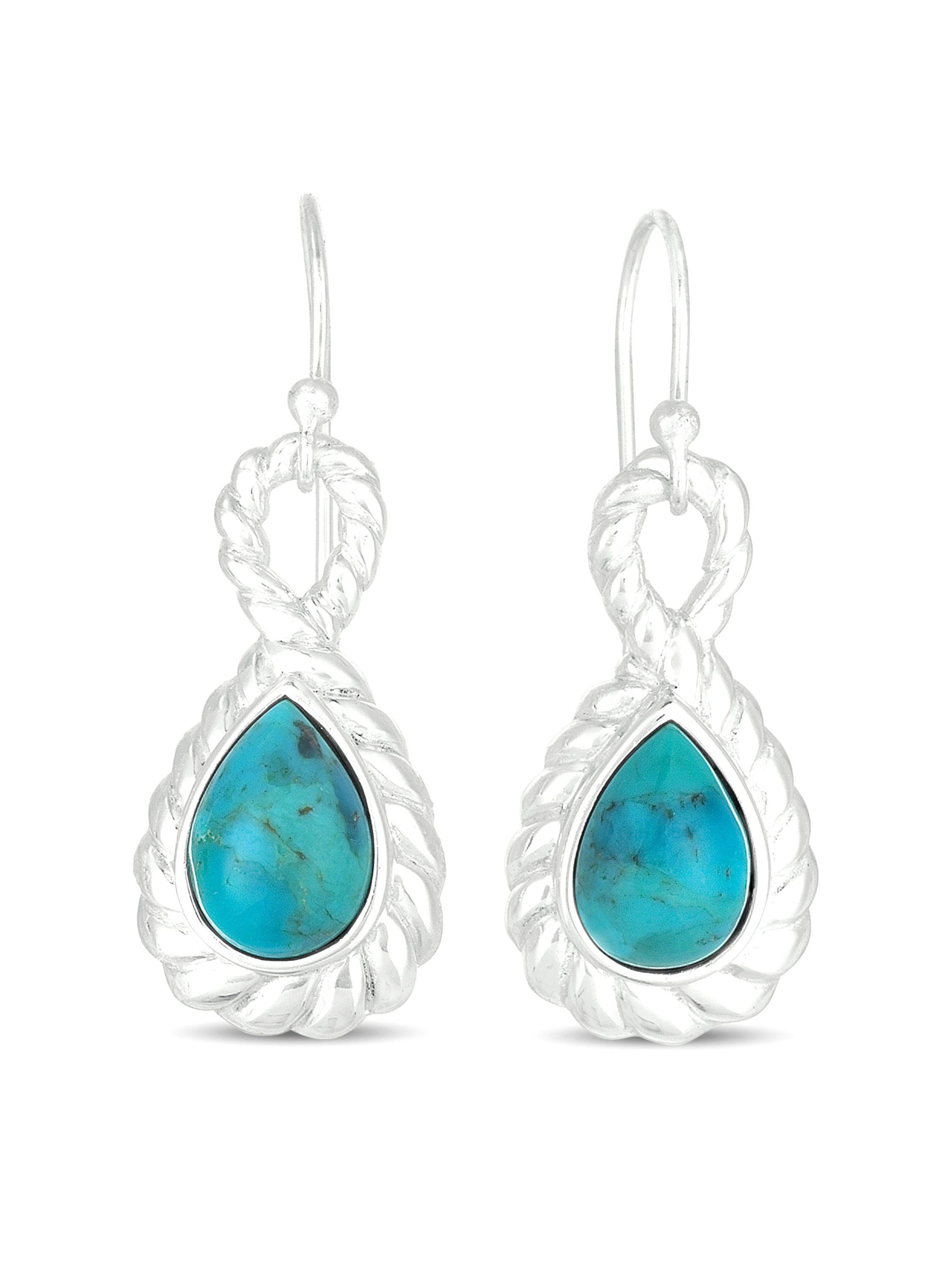 TURQUOISE STERLING SILVER DROP EARRINGS picktookshop.myshopify.com [gogle] [sale] [online]