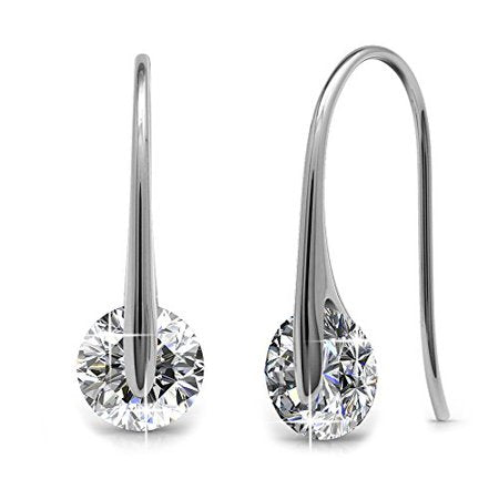 WONDROUS 18K WHITE GOLD EARRINGS BEST SILVER EARRINGS FOR WOMEN