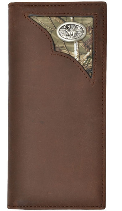 WALLET MENS, WOMENS LEATHER CHECKBOOK DEER BROWN picktookshop.myshopify.com [gogle] [sale] [online]