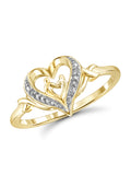 White Diamond Accent 14k Gold Over Silver Mother and Child Heart Ring picktookshop.myshopify.com [gogle] [sale] [online]
