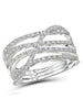 White Diamond Accent Sterling Silver Open Ring picktookshop.myshopify.com [gogle] [sale] [online]