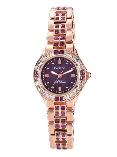 Women's  Crystal Accented Watch, Rose Gold/Purple,Gunmetal/Purple picktookshop.myshopify.com [gogle] [sale] [online]