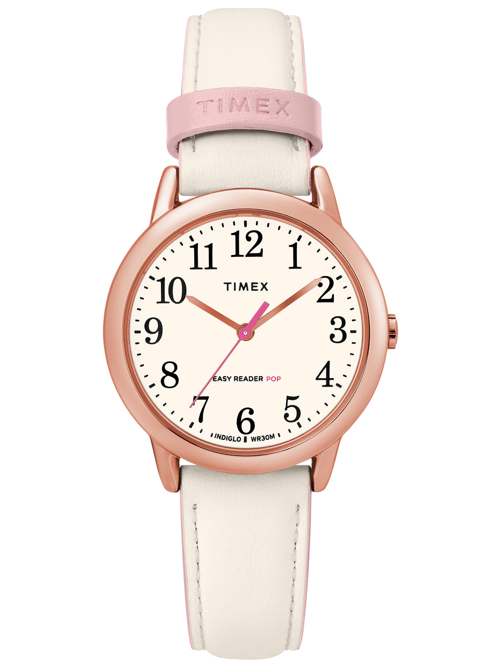 Women's Easy Reader 30mm Pink/Rose Gold Leather Strap Watch picktookshop.myshopify.com [sale] [online]