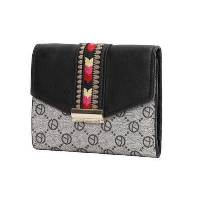 Women's Embroidery Small Trifold Short Wallet PU Card Holder Organizer Purse US picktookshop.myshopify.com [sale] [online]