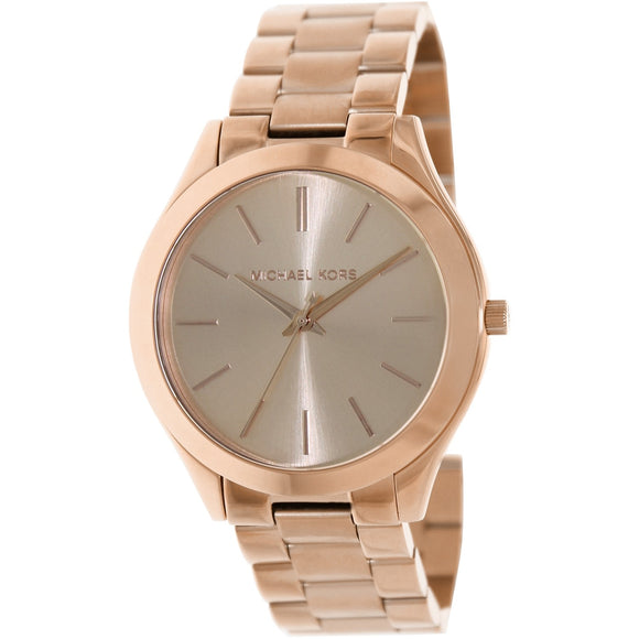 Women's Slim Runway Rose Gold-Tone Stainless Steel Bracelet Watch picktookshop.myshopify.com [sale] [online]