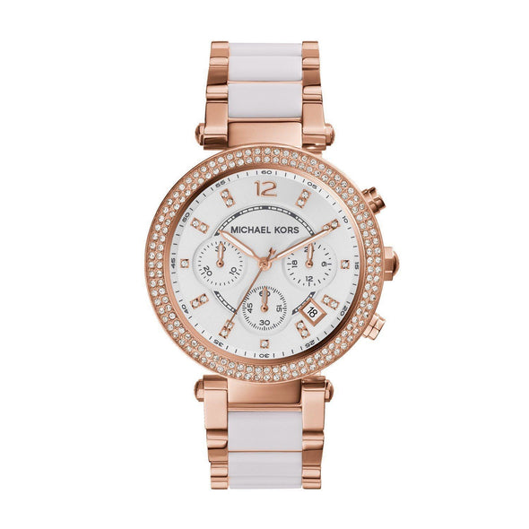 WOMEN'S PARKER CHRONOGRAPH TWO-TONE STAINLESS STEEL WATCH picktookshop.myshopify.com [gogle] [sale] [online]