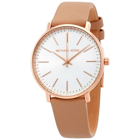 Women's  Rose-Gold Leather Japanese Quartz Fashion Watch