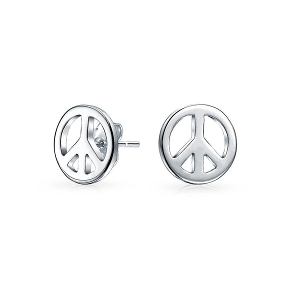 World Peace Sign Symbol Stud Earrings For Women For Teen picktookshop.myshopify.com