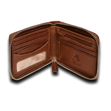 ZIP AROUND MENS BIFOLD LEATHER WALLET picktookshop.myshopify.com [gogle] [sale] [online]