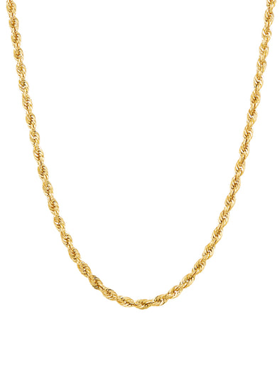 "10KT Yellow Gold 2.9MM Rope Chain, 18"" Necklace picktookshop.myshopify.com [gogle] [sale] [online]"