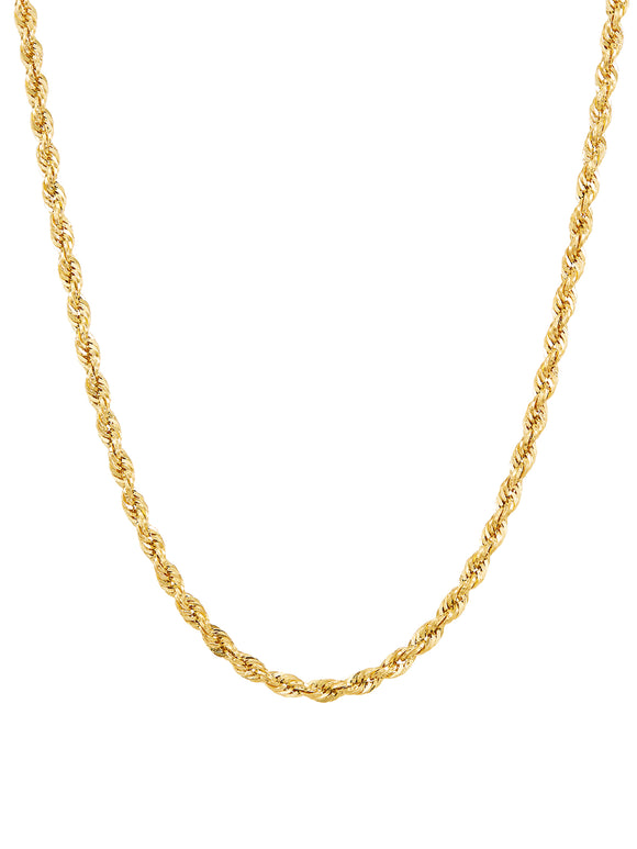 10KT Yellow Gold 2.9MM Rope Chain, 18
