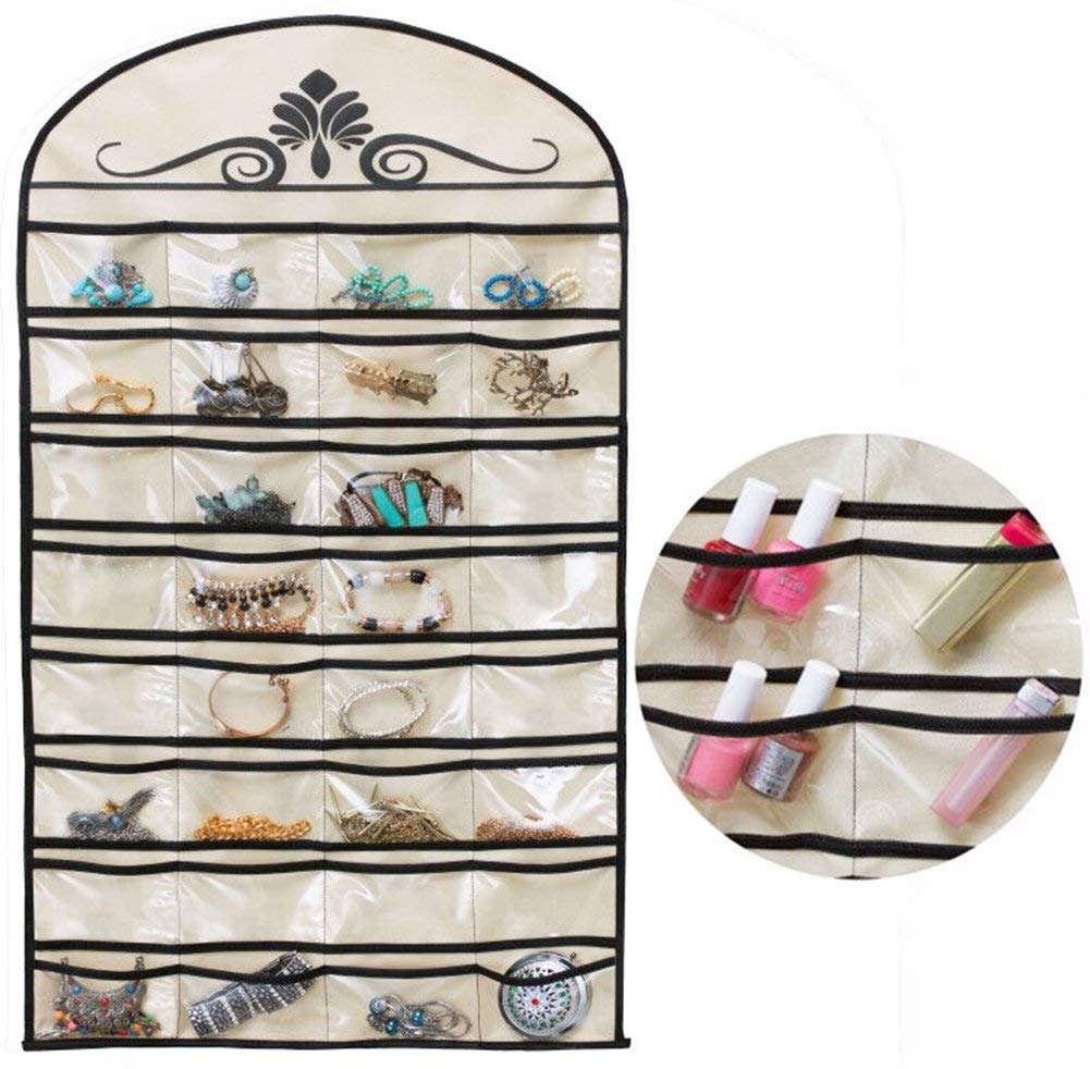 Jewelry Hanging Non-Woven Organizer Holder 32 Pockets 18 Hook and Loops picktookshop.myshopify.com [gogle] [sale] [online]