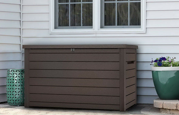230 Gallon Resin Outdoor Patio Storage Deck Box Weatherproof -Ketter