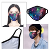 2 Pack Fashionable Starry Sky Pattern Face Mask