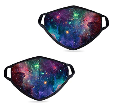 2 Pack Fashionable Starry Sky Pattern Face