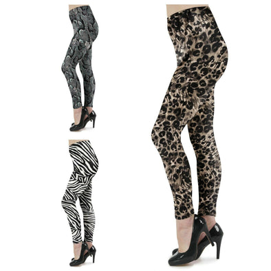 Womens Ladies Full Length Animal Print Leggings Size S,M,L,XL,XXL picktookshop.myshopify.com [sale] [online]