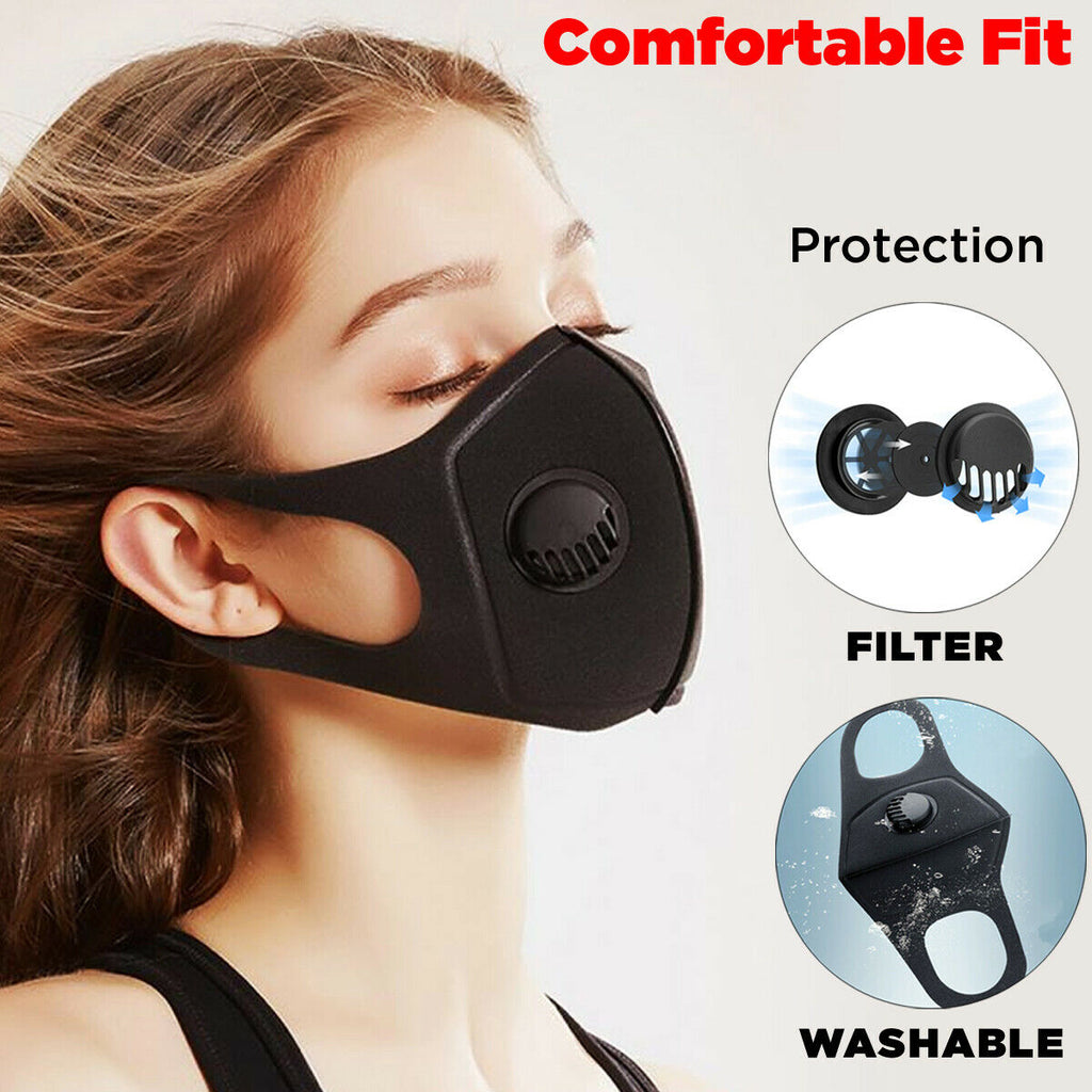 Face Mask Breathable Unisex | Washable Reusable Protection Face Cover