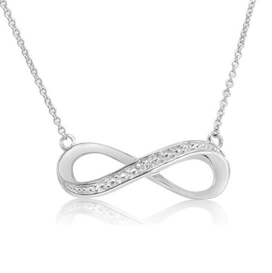 Sterling Silver Diamond Accent 18 inch Infinity Necklace picktookshop.myshopify.com [gogle] [sale] [online]
