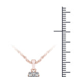Diamond (1/4Ct ) 10K Rose Gold Cluster Nacklace picktookshop.myshopify.com [gogle] [sale] [online]