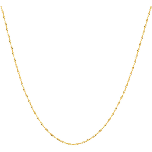 Women's 10kt Yellow Gold Singapore Chain, 22