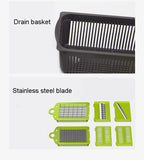 Vegetable Fruit Slicer Grater Cutter Peeler  Drain Basket Kitchen Tool