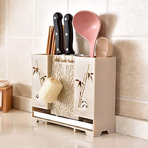PVC Kitchen Knife Stand Tool Holder Multifunctional Tool Spoon Chopsticks