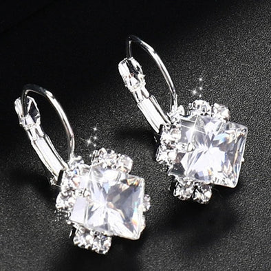 Fashion Silver Color Square Drop Earrings picktookshop.myshopify.com [sale] [online]