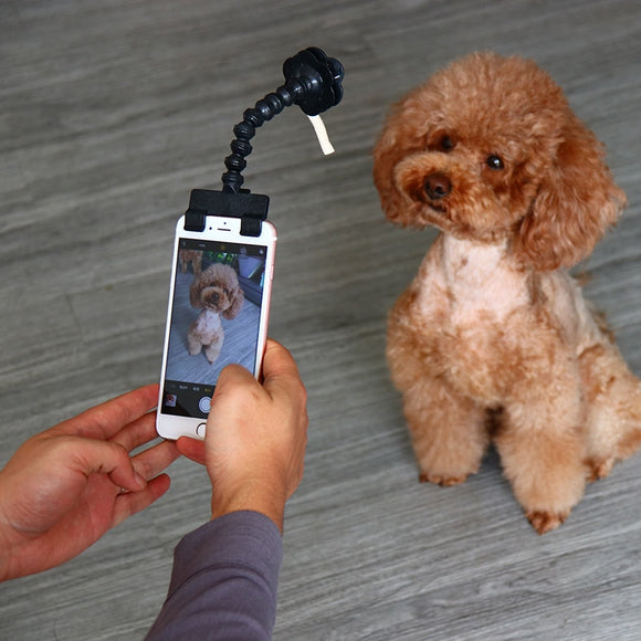 Pet Selfie Stick for Pets Dog Cat fit iPhone Samsung and Most Smartphone Tablet Black