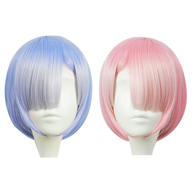 Graduated Color REM Cosplay Halloween wigs picktookshop.myshopify.com [sale] [online]