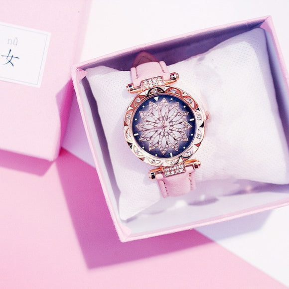 Women Starry Sky Luxury Rose Gold Diamond Watch