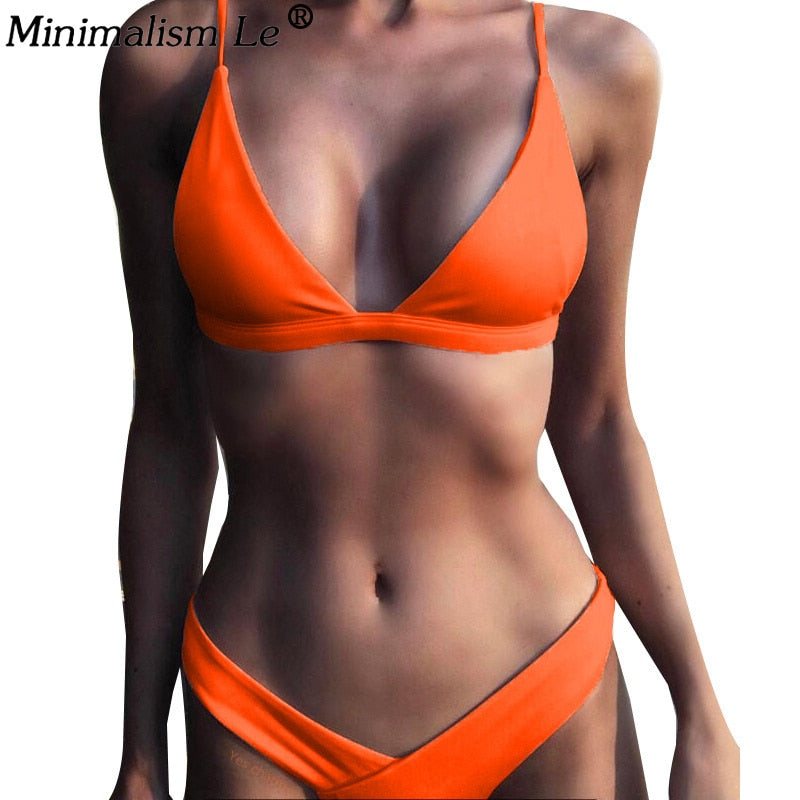 Bikini Set Sexy Bikinis Low Waist Swimwear Bathing Suit