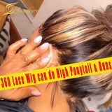 13x6 Highlight Brown Honey Blonde Short Bob