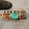New Women Bracelets Natural Stone Lava Beads