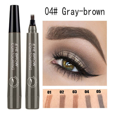 Waterproof Natural Eyebrow Pen Four-claw Eye Brow