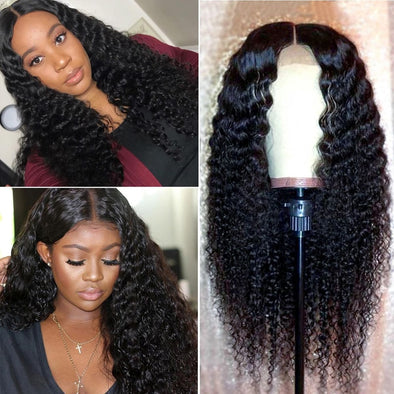 Curly Lace Front Human Hair Wigs For Black Women picktookshop.myshopify.com [sale] [online]