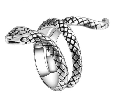 Hip Hop Snake Rings For Women Punk Rock Biker Signet