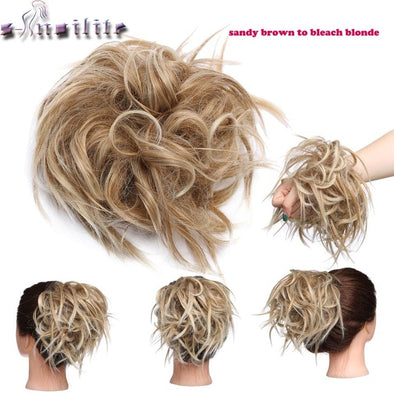 Messy hair Bun Tousled hairpiece Elastic Band picktookshop.myshopify.com [sale] [online]