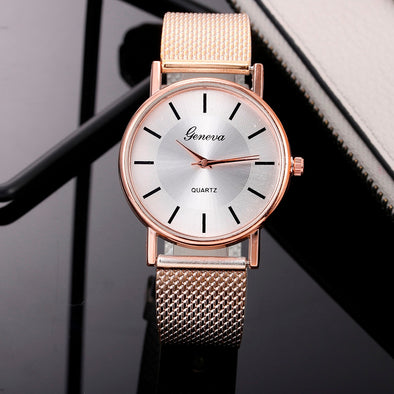 Fashion Woman's Quartz Watch High-end Blue Glass Stylish  Ladies Watches