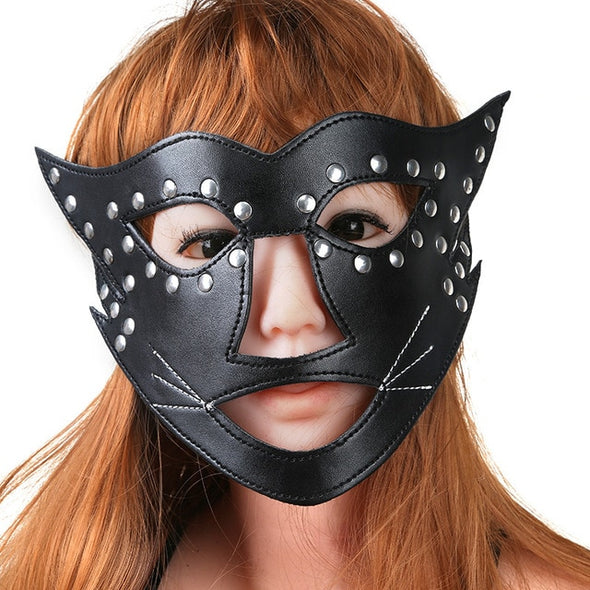 Halloween Sexy PU Leather Cat Mask For Women picktookshop.myshopify.com [sale] [online]