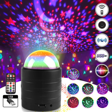 Disco Projector Christmas Decor Remote Voice Control Light