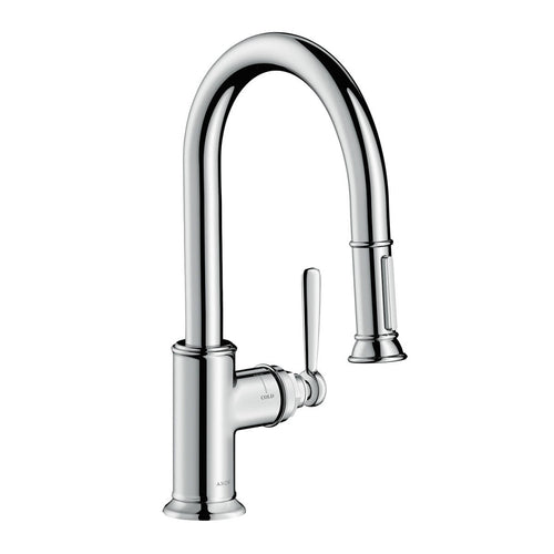 AXOR Montreux Prep Kitchen Faucet 2-Spray Pull-Down, 1.75 GPM