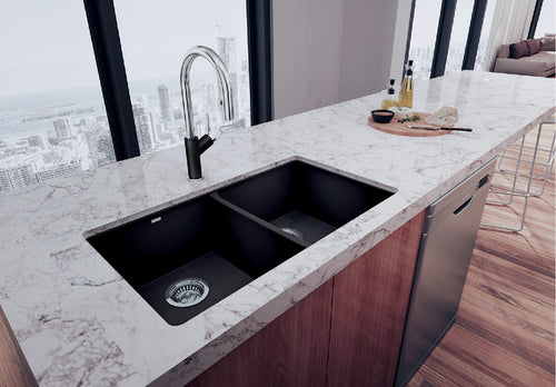 BLANCO PRECIS U 2 Granite composite sink in  SILGRANIT®